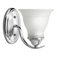 Progress P3190-15 Trinity 1 Light 7 inch Polished Chrome Bath Vanity Wall Light in Bulbs Not Included
