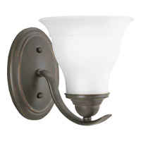 Progress P3190-20 Trinity 1 Light 7 inch Antique Bronze Bath Vanity Wall Light in Bulbs Not Included Standard