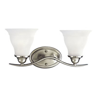 Progress Lighting Trinity 2 Light Bath Vanity in Brushed Nickel P3191-09EBWB