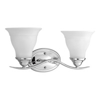 Progress P3191-15 Trinity 2 Light 17 inch Polished Chrome Bath Vanity Wall Light in Bulbs Not Included