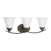 Progress P3192-20 Trinity 3 Light 24 inch Antique Bronze Bath Vanity Wall Light in Bulbs Not Included