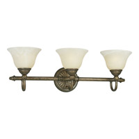 Savannah 3 Light 25 inch Burnished Chestnut Bath Vanity Wall Light