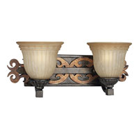 Progress Lighting Thomasville Provence 2 Light Bath Vanity in Old Iron Crackle P3214-92C