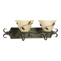 Progress Lighting Eden 2 Light Bath Vanity in Forged Bronze P3237-77
