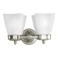 Progress Lighting Delta Michael Graves 2 Light Bath Vanity in Brushed Nickel P3241-09