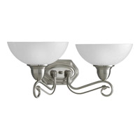 Progress Lighting Pavilion 2 Light Bath Vanity in Brushed Nickel P3270-09