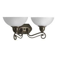 Progress Lighting Pavilion 2 Light Bath Vanity in Antique Bronze P3270-20