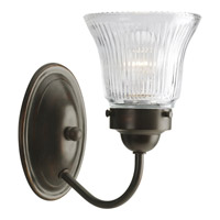 Progress Lighting Economy Fluted Glass 1 Light Bath Vanity in Antique Bronze P3287-20