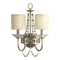 Progress Lighting Thomasville Chanelle 2 Light Wall Bracket in Antique Silver P3292-34