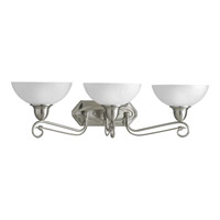 Progress Lighting Pavilion 3 Light Bath Vanity in Brushed Nickel P3294-09
