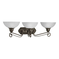Progress Lighting Pavilion 3 Light Bath Vanity in Antique Bronze P3294-20