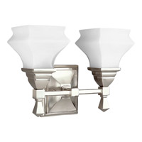 Progress Lighting Bratenahl 2 Light Bath Vanity in Brushed Nickel P3296-09