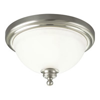 Madison 1 Light 12 inch Brushed Nickel Close-to-Ceiling Ceiling Light