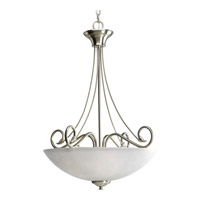 Progress P3325-09 Pavilion 3 Light 22 inch Brushed Nickel Hall & Foyer Ceiling Light