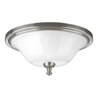 Progress Lighting Delta Victorian 2 Light Close-to-Ceiling in Brushed Nickel P3326-09