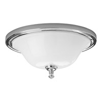 Progress Lighting Delta Victorian 2 Light Close-to-Ceiling in Polished Chrome P3326-15