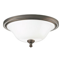 Victorian 2 Light 16 inch Venetian Bronze Close-to-Ceiling Ceiling Light