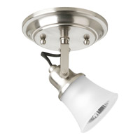 Progress Lighting Directionals 1 Light Close-to-Ceiling in Brushed Nickel P3328-09WB