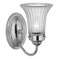 Progress Lighting Fluted Glass 1 Light Bath Vanity in Polished Chrome P3336-15