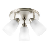 Wisten 3 Light 19 inch Brushed Nickel Close-to-Ceiling Ceiling Light