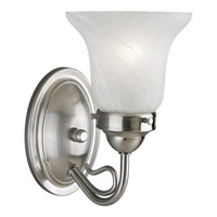 Progress Lighting Bedford 1 Light Bath Vanity in Brushed Nickel P3367-09