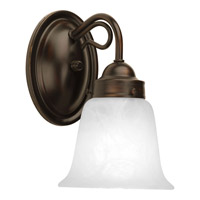 Progress P3367-20 Bedford 1 Light 5 inch Antique Bronze Bath Vanity Wall Light in Alabaster Glass photo thumbnail