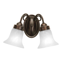 Progress Lighting Bedford 2 Light Bath Vanity in Antique Bronze P3368-20