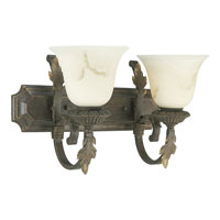 Progress Lighting Palmero 2 Light Bath Vanity in Weathered Bronze P3370-46