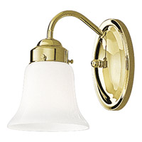 Opal Glass 1 Light 5 inch Polished Brass Bath Vanity Wall Light