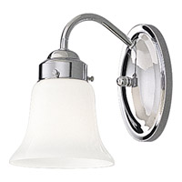 Opal Glass 1 Light 5 inch Polished Chrome Bath Vanity Wall Light