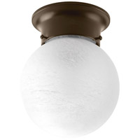 Glass Globe 1 Light 6 inch Antique Bronze Flush Mount Ceiling Light