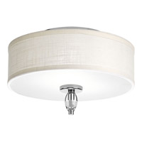 Status 2 Light 13 inch Polished Chrome Flush Mount Ceiling Light