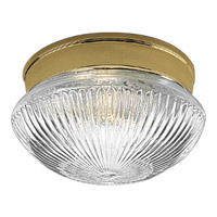 Progress Lighting Fitter 1 Light Close-to-Ceiling in Polished Brass P3405-10