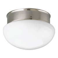 Fitter 1 Light 7 inch Brushed Nickel Flush Mount Ceiling Light in Bulbs Included