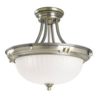 Progress Lighting Huntington 3 Light Semi-Flush Mount in Colonial Silver P3409-43