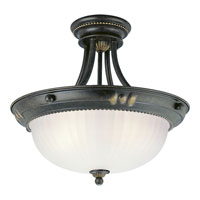 Progress Lighting Huntington 3 Light Semi-Flush Mount in Forged Bronze P3409-77