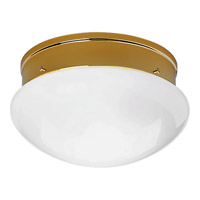 Fitter 2 Light 10 inch Polished Brass Close-to-Ceiling Ceiling Light in Bulbs Not Included