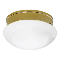 Fitter 2 Light 12 inch Polished Brass Close-to-Ceiling Ceiling Light in White Glass, Standard