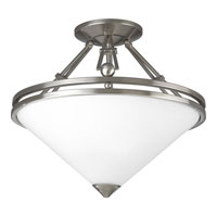 Progress Lighting Metro 2 Light Semi-Flush Mount in Brushed Nickel P3420-09
