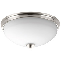 Replay 2 Light 14 inch Brushed Nickel Flush Mount Ceiling Light
