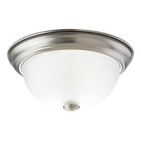 Progress Lighting Etched Glass 1 Light Close-to-Ceiling in Brushed Nickel P3428-09