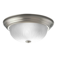 Progress Lighting Etched Glass 2 Light Close-to-Ceiling in Brushed Nickel P3429-09