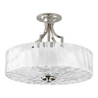 Progress P3434-104 Caress 2 Light 16 inch Polished Nickel Semi-Flush Mount Ceiling Light