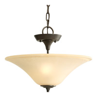Progress P3440-77 Cantata 2 Light 16 inch Forged Bronze Semi-Flush Mount Ceiling Light in Seeded Topaz Glass alternative photo thumbnail