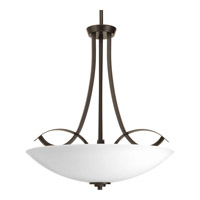 Progress Merge 3 Light Inverted Foyer Pendant in Antique Bronze P3446-20