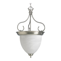 Progress Lighting Alabaster Glass 4 Light Hall & Foyer in Brushed Nickel P3458-09