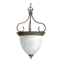 Progress Lighting Alabaster Glass 4 Light Hall & Foyer in Antique Bronze P3458-20