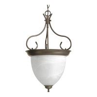 Progress P3458-20 Alabaster Glass 4 Light 16 inch Antique Bronze Hall & Foyer Ceiling Light