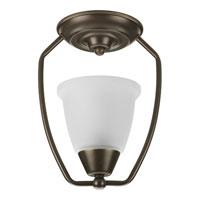Progress Lighting New Bedford 1 Light Semi-Flush Mount in Antique Bronze P3462-20