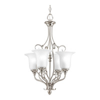 Progress P3464-09 Kensington 4 Light 18 inch Brushed Nickel Close-to-Ceiling Ceiling Light in Swirl Etched Glass